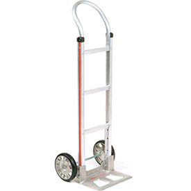 Magliner Aluminum Hand Truck with Curved Handle, Mold-On Rubber Wheels