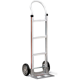 "MAGLINER Aluminum Hand Truck - 18""Wx48""H - Mold-On Rubber Wheels - Dual Handle with Frame Extension"