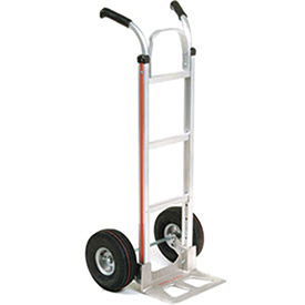 Magliner Aluminum Hand Truck with Double Handle, Pneumatic Wheels