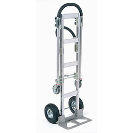 Aluminum 2-in-1 Convertible Hand Truck with Pneumatic Wheels - Senior