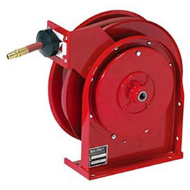 """All Steel Compact Retractable Hose Reel For Air/Water, 1/4"""" x 35' 300PSI"""