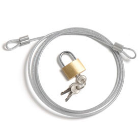 Security Cable Kit, Cable Padlock And Keys