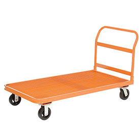 Depot Platform Truck, 4 Wheel, Steel Grating Deck, 60 x 30, 2000 Lb. Capacity