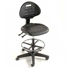 Black 5-Way Adjustable Ergonomic Stool, 225 Lbs Capacity