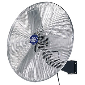 "Deluxe Oscillating Wall Mount Fan, 30"" Diameter, 1/2HP, 10,000CFM"