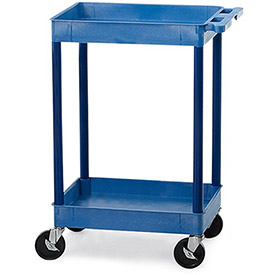 "LUXOR | H. WILSON Tray-Shelf Carts - 24""Wx18""D Shelf - 38-1/2""H - Blue"
