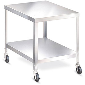 "LAKESIDE Stainless Steel Mobile Tables with Flush Shelves - 24""Wx20""D Shelf - 29-3/16""H"