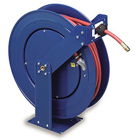 COXREELS Supreme-Duty Self-Retracting Air/Water Hose Reel - Hose Inside Diameter 3/4 - 50' Hose