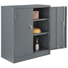 Unassembled Counter Height Cabinet, 36x18x42, Gray