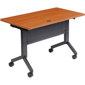 "Flip-Top Training Table, 48"" x 24"", Cherry"