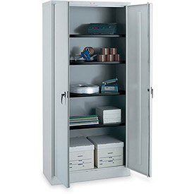 "PARENT METAL Storage Cabinet - 36x18x78"" - 3 Shelves - Light gray"