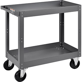 "2 Shelf Deep Tray Steel Stock Cart, 800 Lb. Capacity, 30""L x 16""W x 32""H"