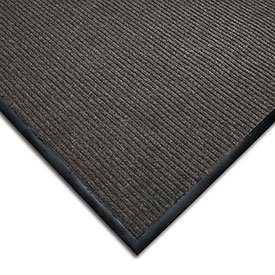 Wearwell Cavalier Ribbed Carpet Mat, Gray, 3X6'